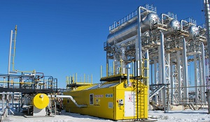 Compressor station with liquid-ring compressor for Rosneft